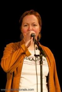 Nancy R Lange w mic